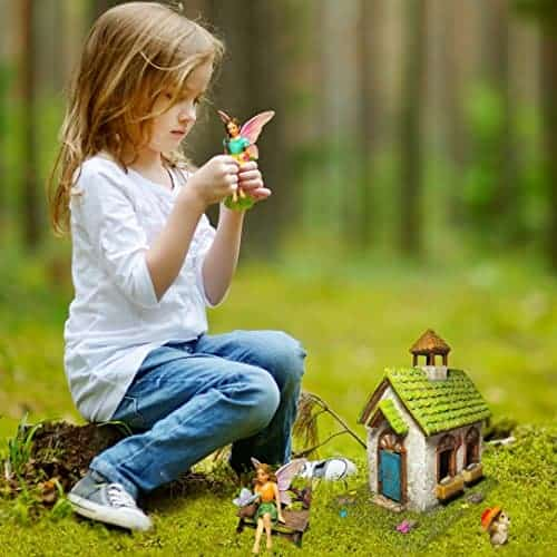 Mood Lab Fairy Garden Sitting Girls Set Of 2 Pcs Fairy Figurines Kit For Outdoor Or House Decor Miniature Garden Fairies Pinnacleoilandgas Com