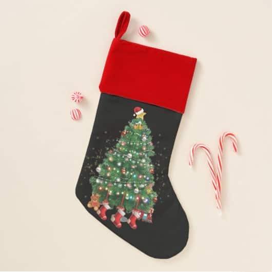 A North Pole Christmas Tree Christmas Stocking
