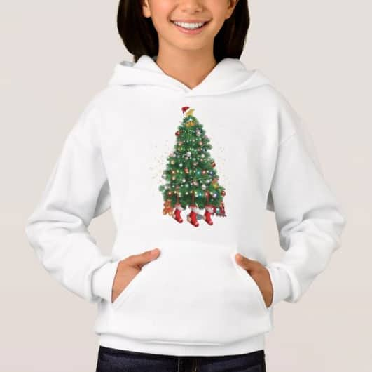 A North Pole Christmas Tree Hoodie