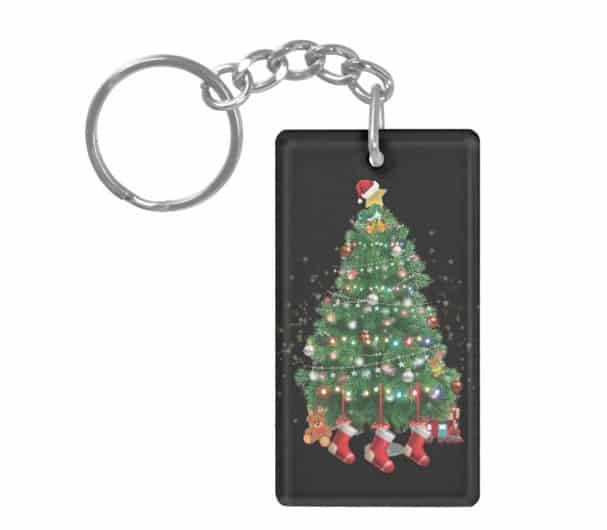 A North Pole Christmas Tree Keychain