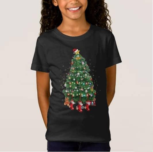 A North Pole Christmas Tree T Shirt