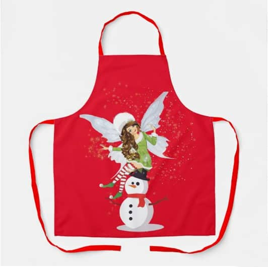 Fairy Merry And The Magical Snowman Apron