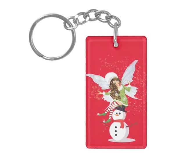 Fairy Merry And The Magical Snowman Keychain