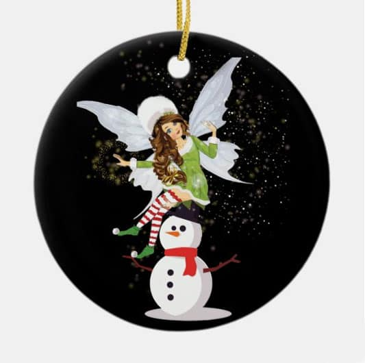 Fairy Merry And The Magical Snowman Ornament