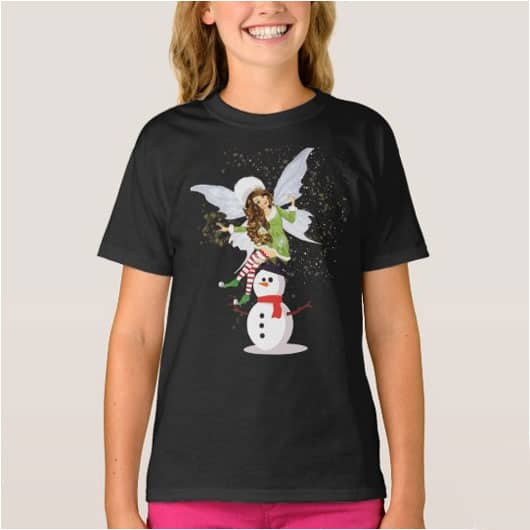 Fairy Merry And The Magical Snowman T Shirt 2