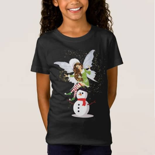 Fairy Merry And The Magical Snowman T Shirt
