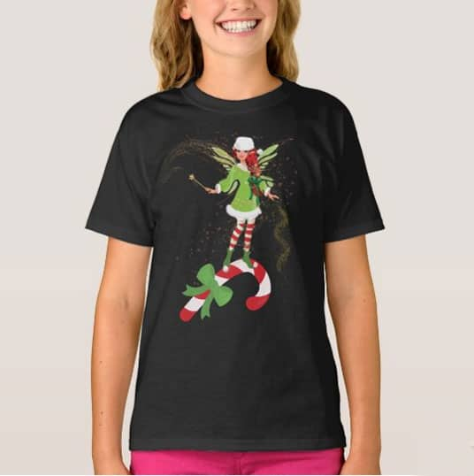 Fairy Merry And The Matching Candy Cane T Shirt