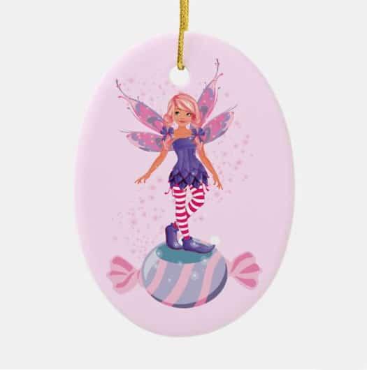 The Sugar Plum Fairy Of The North Pole Ceramic Ornament