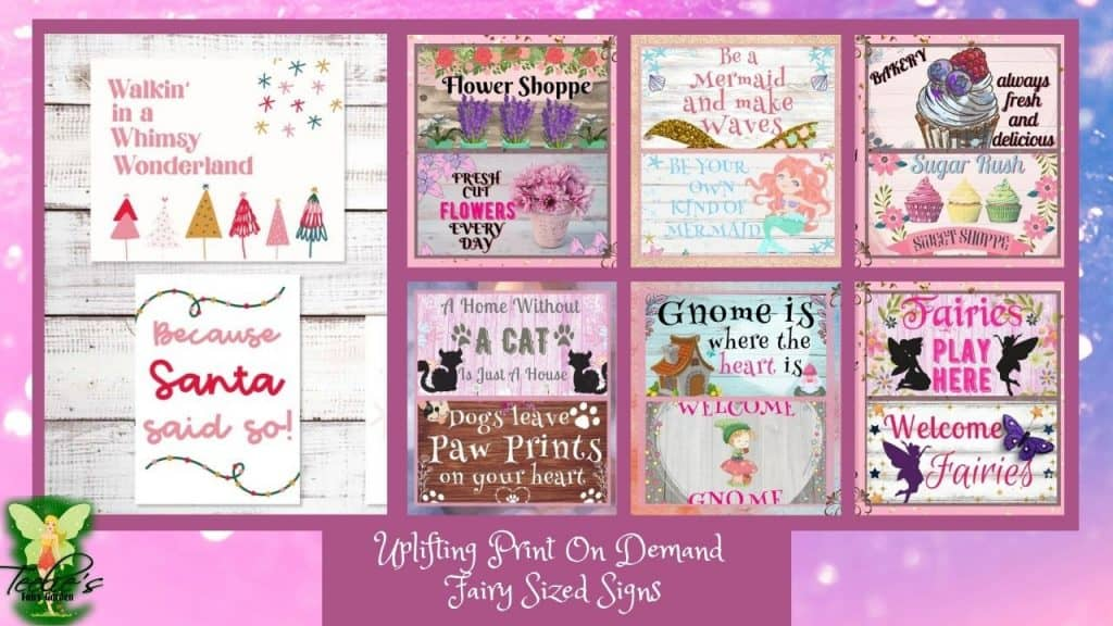 Thumbnail Uplifting Print On Demand Fairy Sized Signs. 1024x576