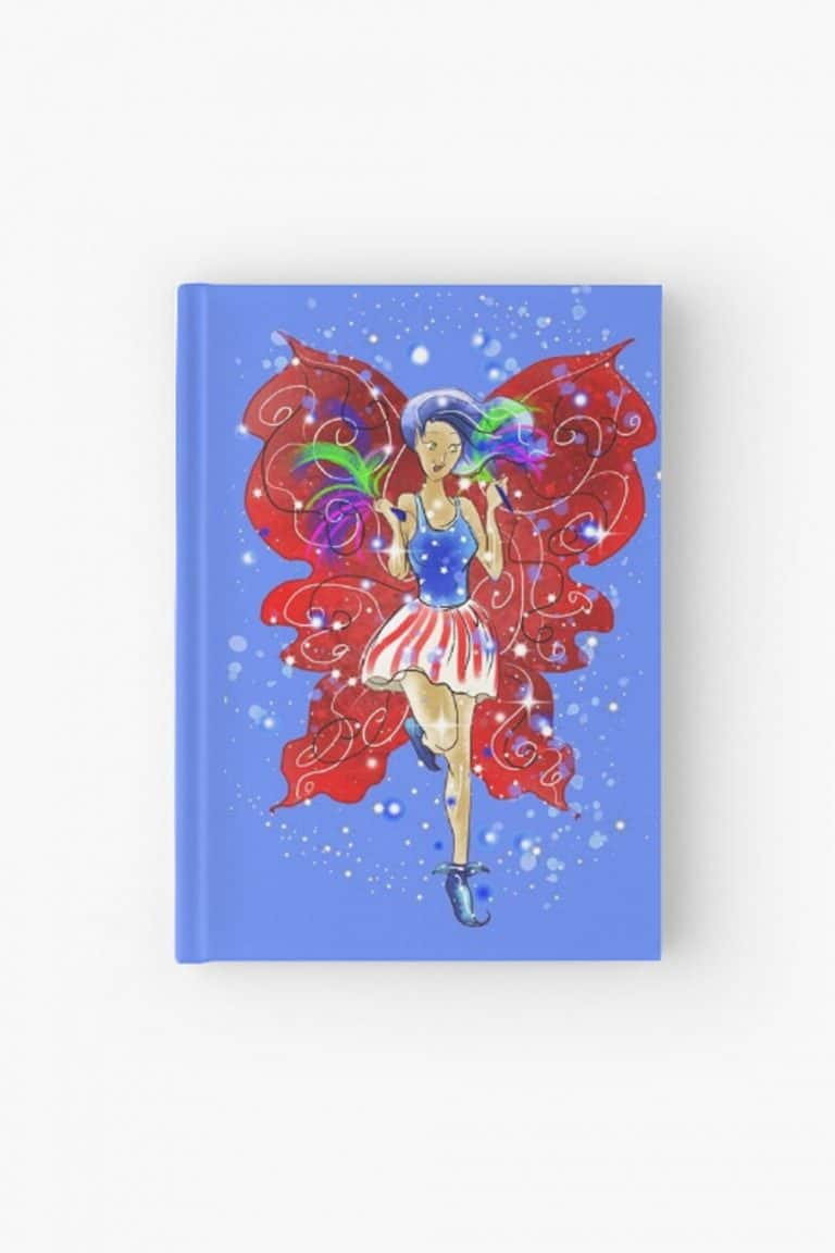 patriotic patsy the 4th of july fairy hardcover journal