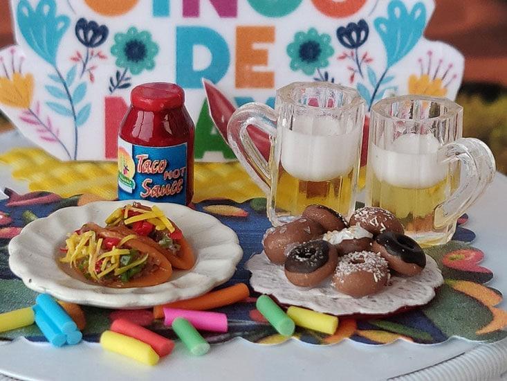 taco celebration including donuts