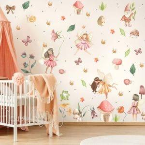flower fairy decal decor