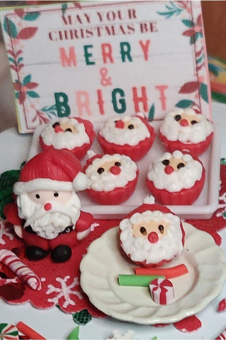 ho ho ho santa cupcakes, miniature dollhouse