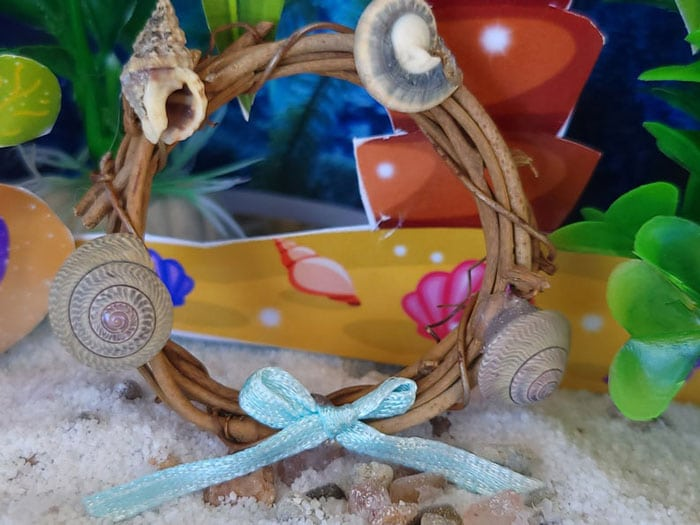 time to decorate with a beach seaside wreath