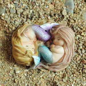 top collection miniature fairy garden and terrarium sleeping little mermaid friends