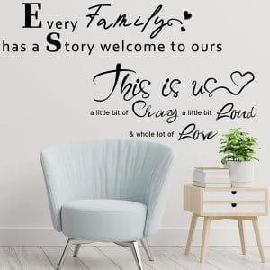 2 sheets family wall decals inspirational wall stickers