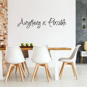 4 pieces inspirational wall decals wall quote sayings stickers