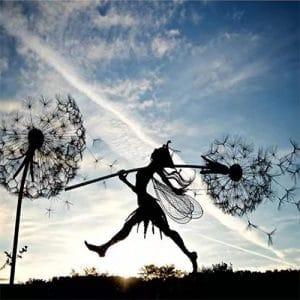 dandelions and fairies dance