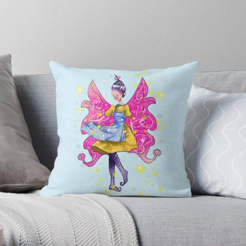 Abella The Apron Fairy™ Throw Pillow