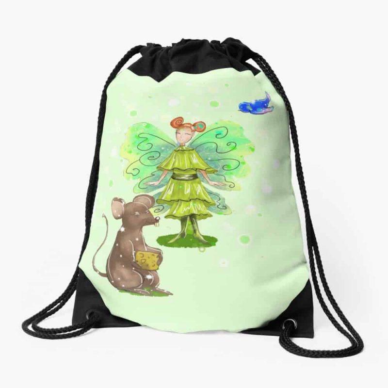 Alura The Animal And Pet Fairy Drawstring Bag