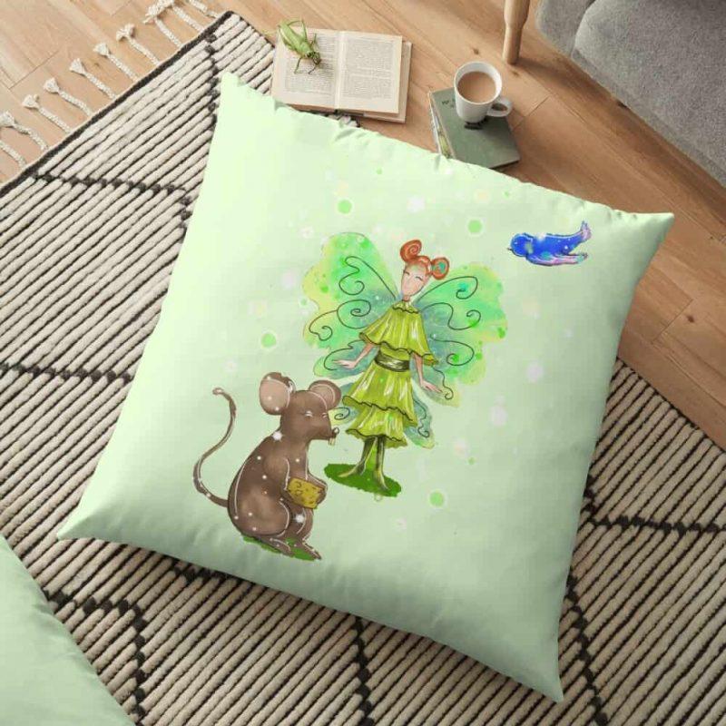 Alura The Animal And Pet Fairy Floor Pillow