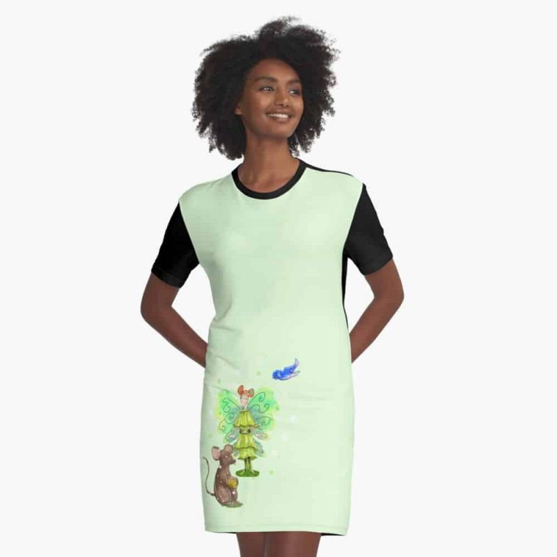 Alura The Animal And Pet Fairy Graphic T Shirt Dress