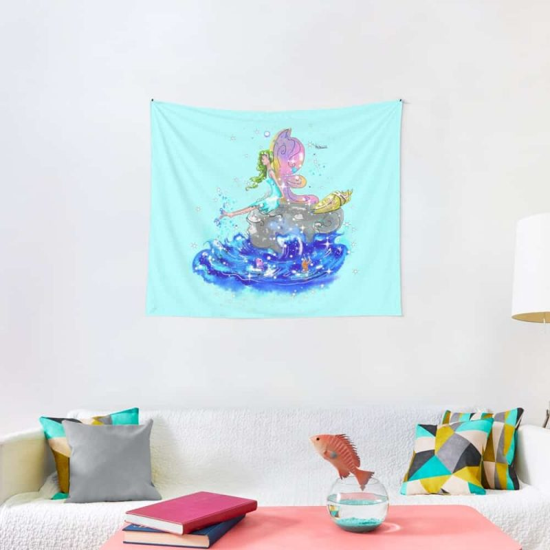Blue Sea Mist The Seaside Fairy™ Tapestry