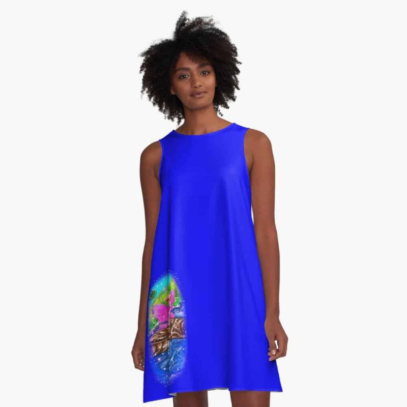 Breena The Garden Ponds And Bridges Fairy™ A Line Dress