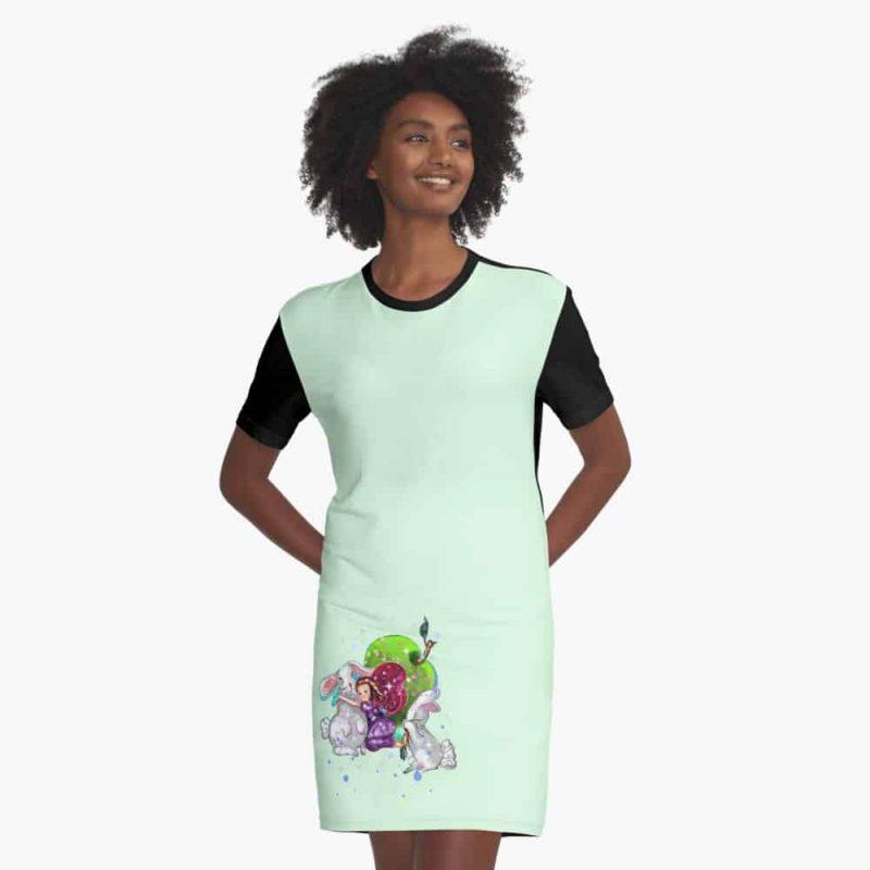 Busana The Bunny Fairy™ Graphic T Shirt Dress