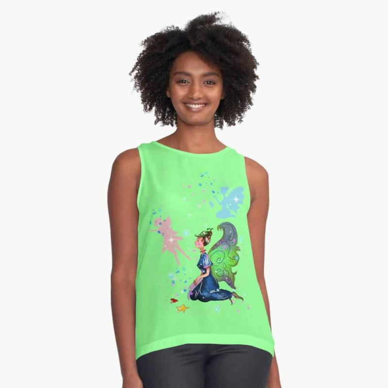 Delicia The Decal Fairy™ Sleeveless Top