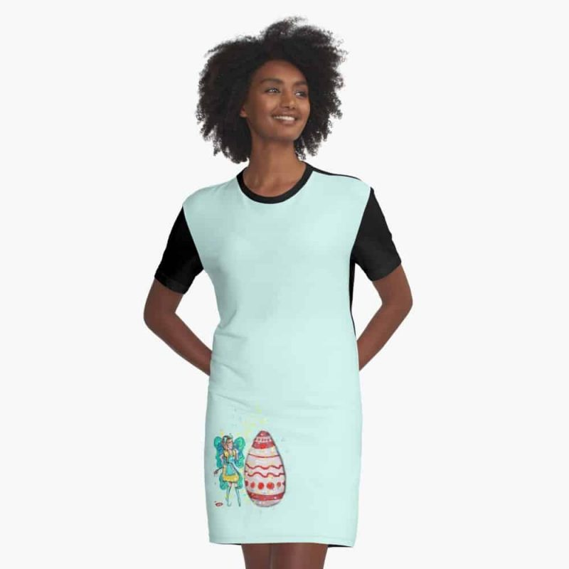 Eloiny The Easter Fairy™ Graphic T Shirt Dress
