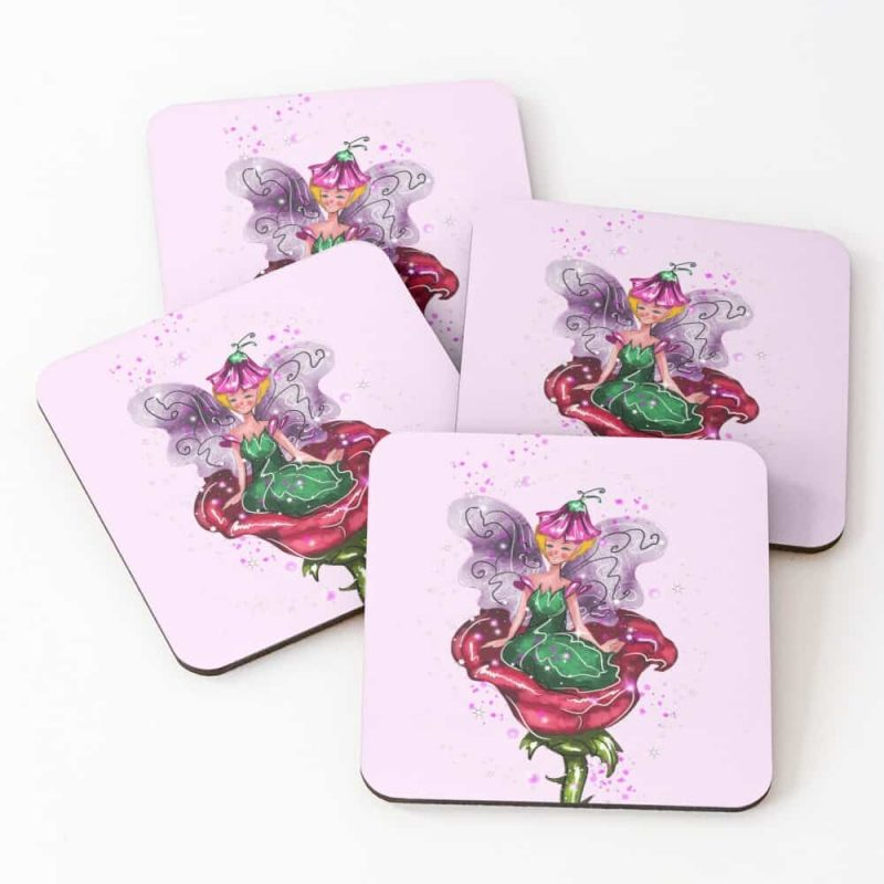 Felicitae The Flower Fairy™ Coasters (set Of 4)