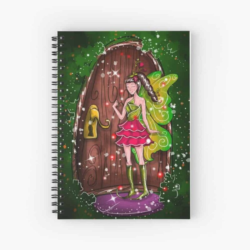 Florina The Fairy House Fixed Door Fairy™ Spiral Notebook