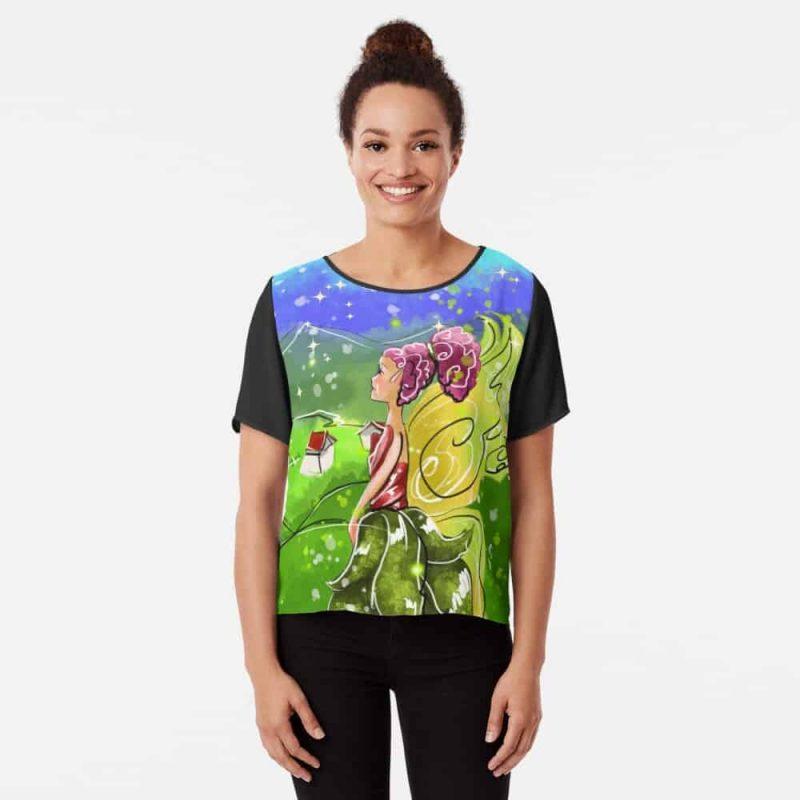 Lavinna The Landscape Fairy™ Chiffon Top