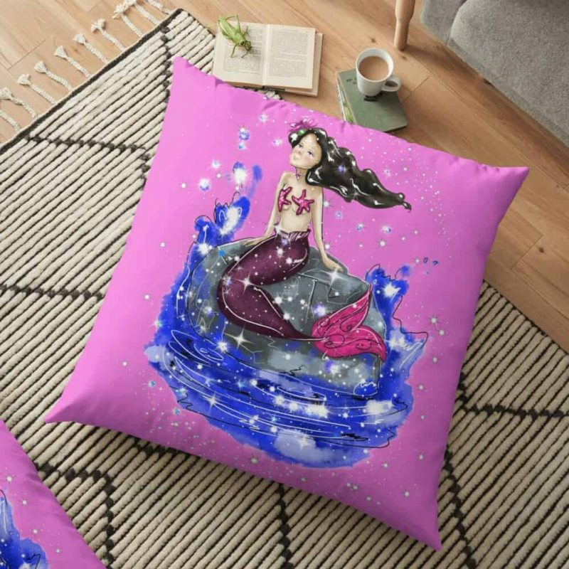 Mandy The Mermaid™ Floor Pillow