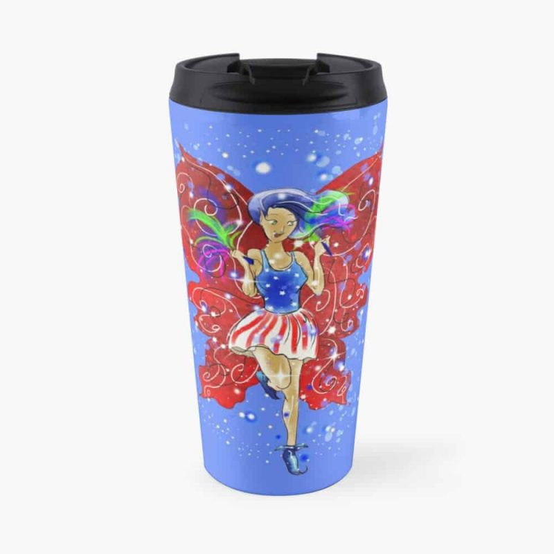 Patriotic Patsy The 4th Of July Fairy™ Travel Mug