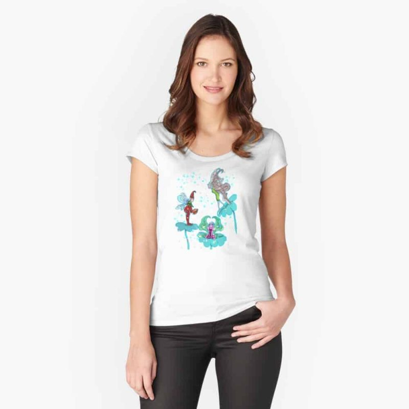 Philominia Pixie Fairy™ Fitted Scoop T Shirt