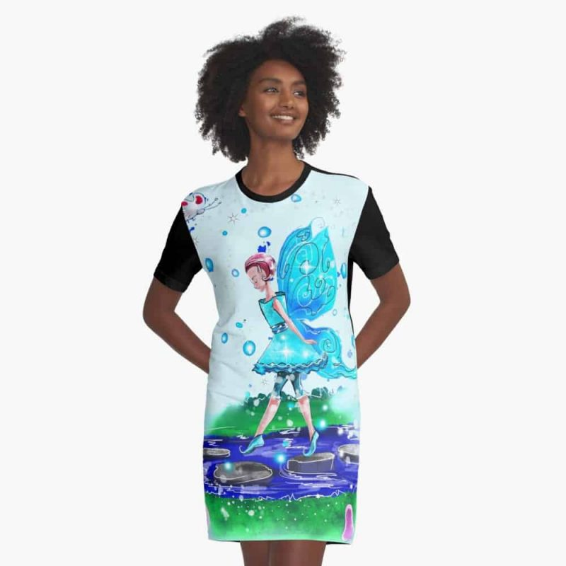 Sorcha The Pathway And Steppingstone Fairy™ Graphic T Shirt Dress