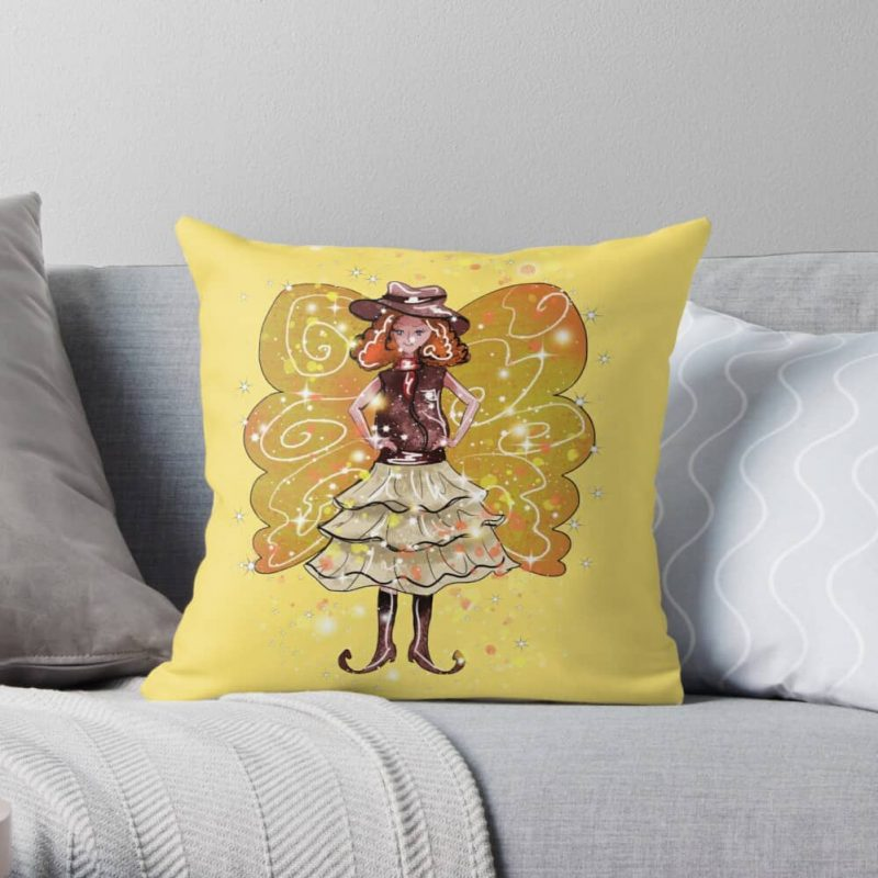 Willie Snap The Wild West Fairy™ Throw Pillow