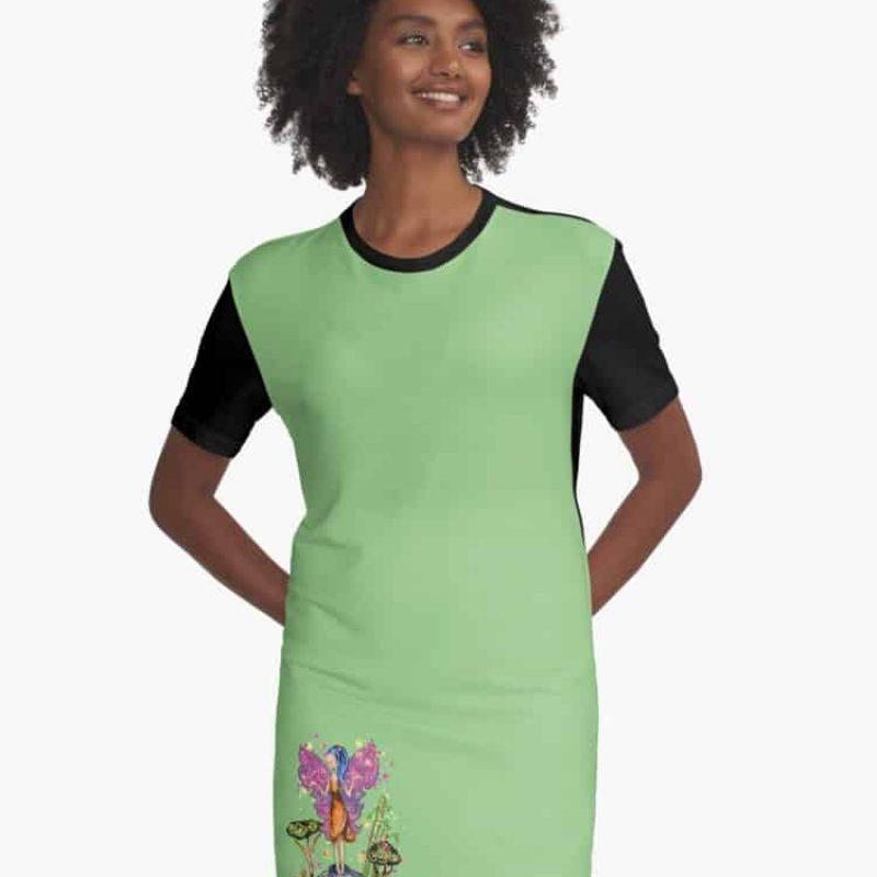Zarina The Zen Fairy™ Graphic T Shirt Dress
